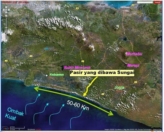 Ilustrasi datangnya pasir pantai, sumber geologi.co.id